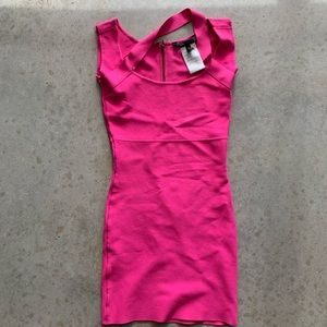 BCBG MAXAZRIA Neon Pink Dress